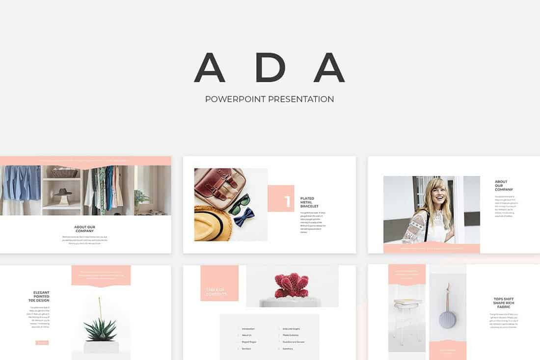Ada-PowerPoint-Presentation-Template 20+ Simple PowerPoint Templates (With Clutter-Free Design) design tips  Inspiration|powerpoint
