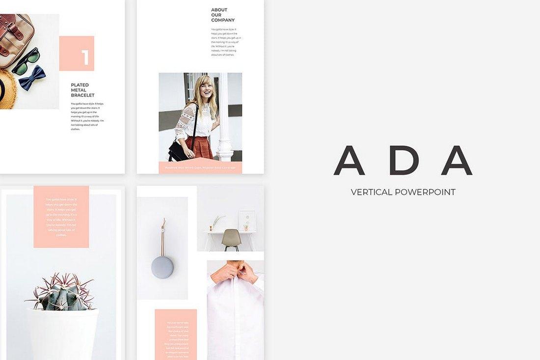 Ada - Vertical PowerPoint Presentation Template