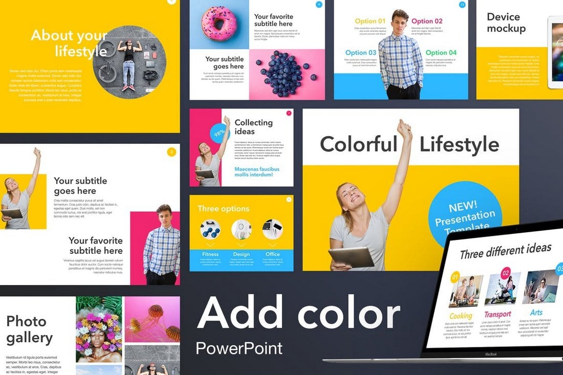 Add-Color-PowerPoint-Template 20+ Modern Professional PowerPoint Templates design tips