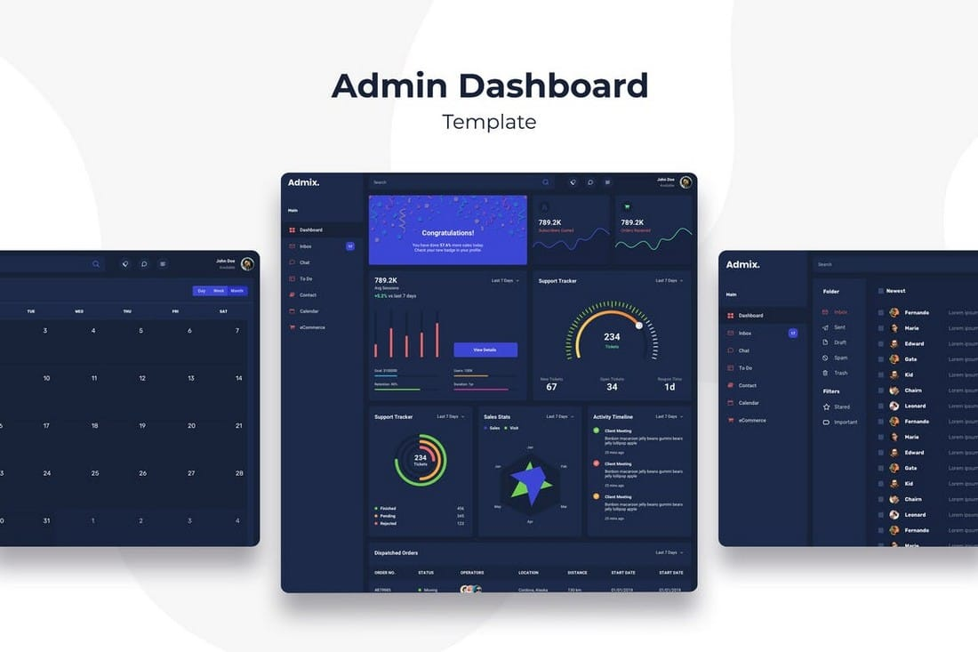 Admin Dashboard - Sketch Templates Kit