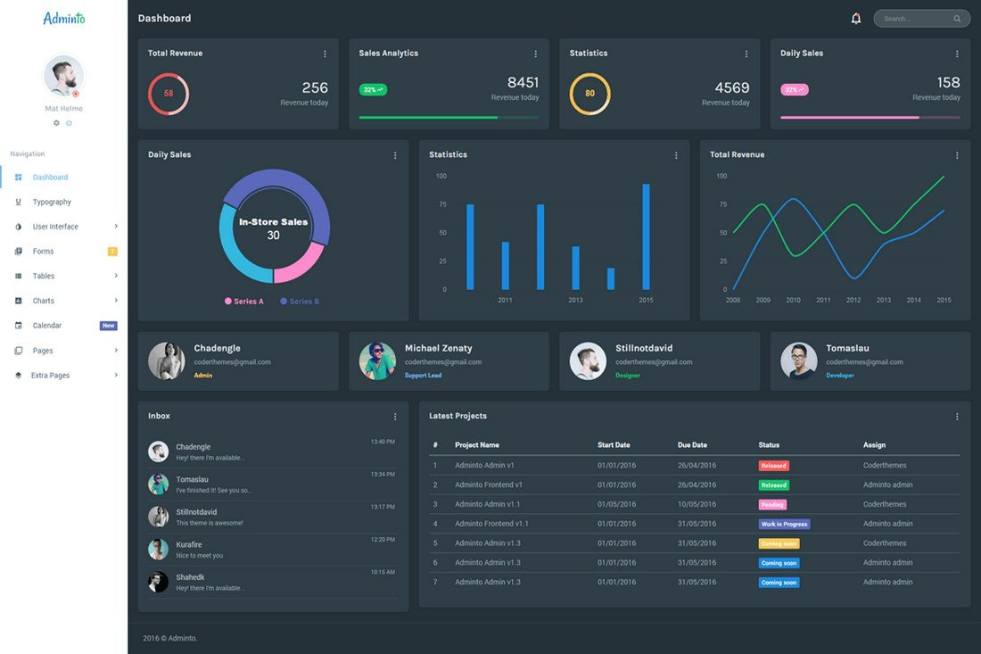 Adminto-Responsive-Admin-Dashboard 40+ Best Bootstrap Admin Templates of 2019 design tips