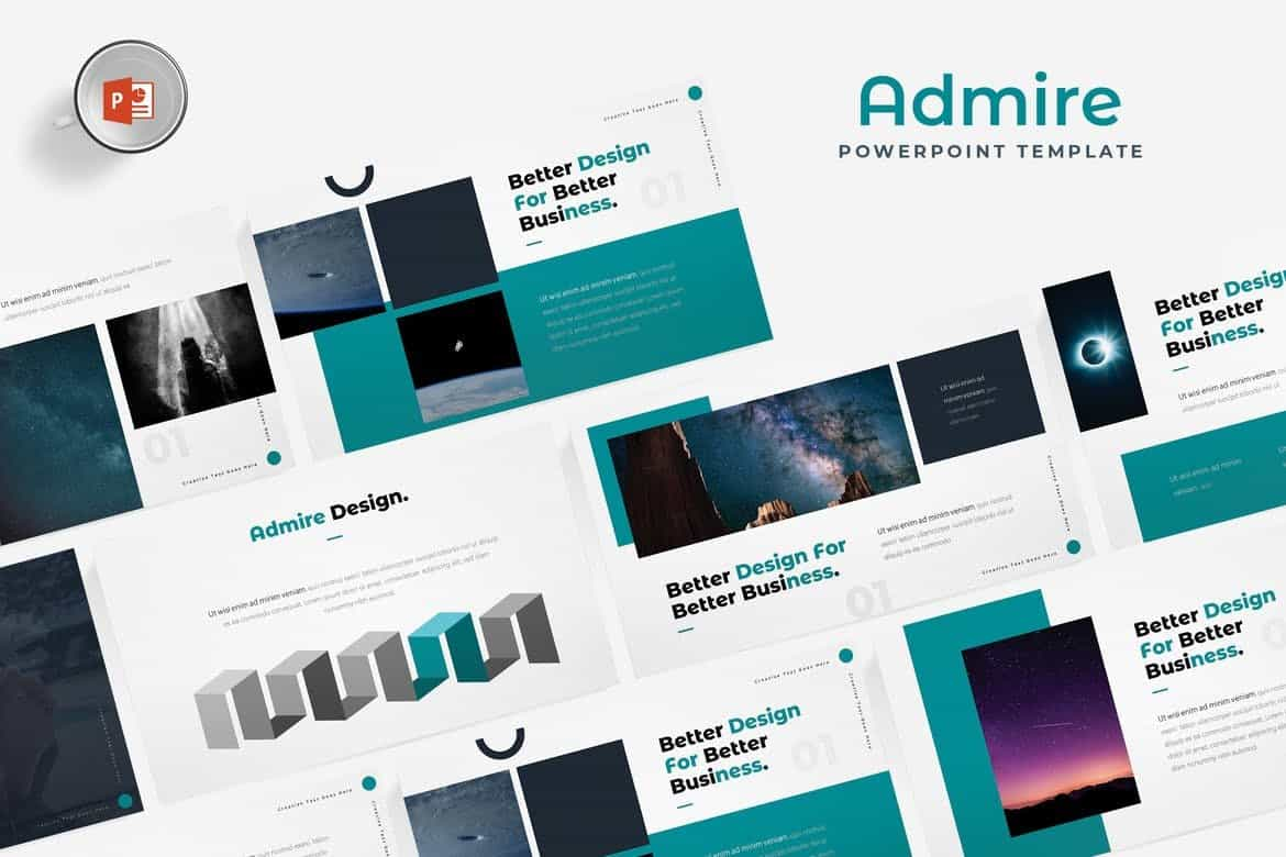 Admire-Design-Portfolio-Powerpoint-Template 30+ Animated PowerPoint Templates (Free + Premium) design tips