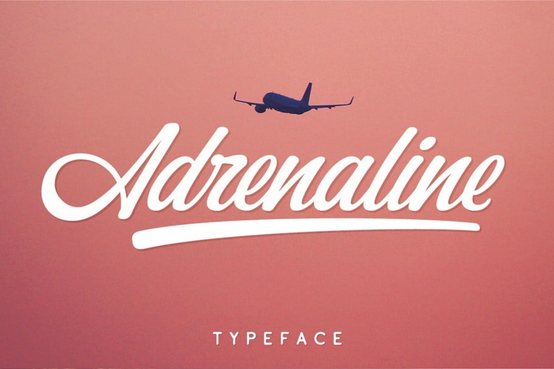 Adrenaline-Free-Script-Font 30+ Bold & Free Script Fonts design tips  Typography|fonts|script
