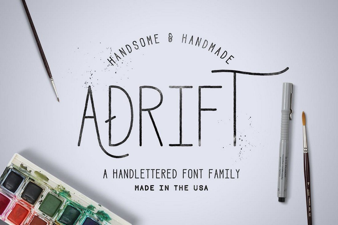 Adrift-Font 30+ Best Fonts for Logo Design design tips