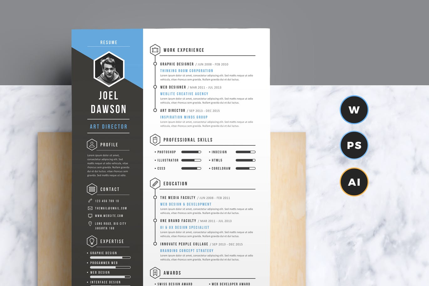 Advanced CV Resume Template  Resume Design Inspiration