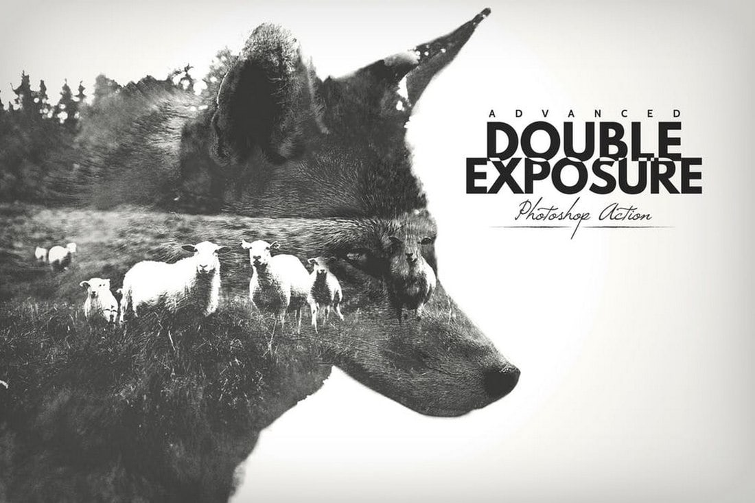 Advanced-Double-Exposure-Photoshop-Action-1 20+ Best Photoshop Filters + Plugins 2020 (+ How to Use Them) design tips