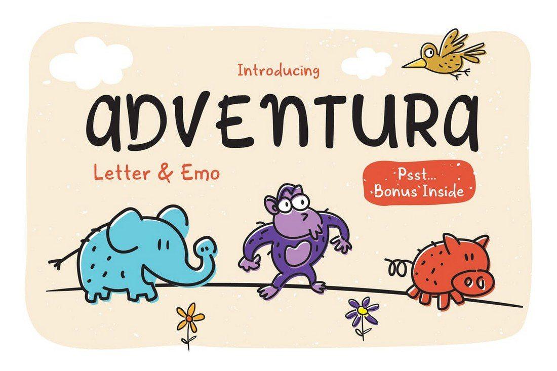 Adventura-Letter-Emo 30+ Best Hand Lettering Fonts design tips