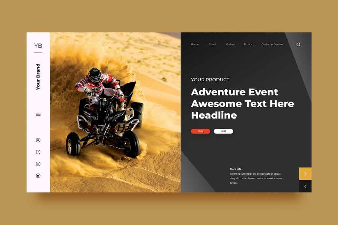Adventure Event Background Template
