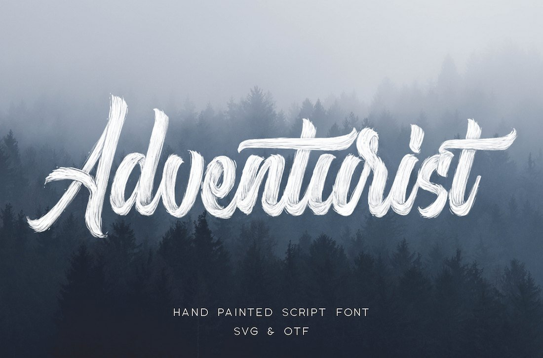 Adventurist - Free Hand-Painted Script Font
