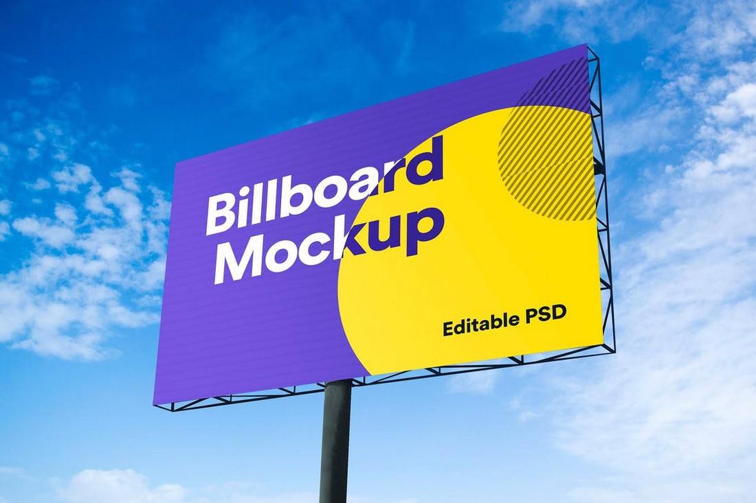 Advertisement Billboard Mockup PSD