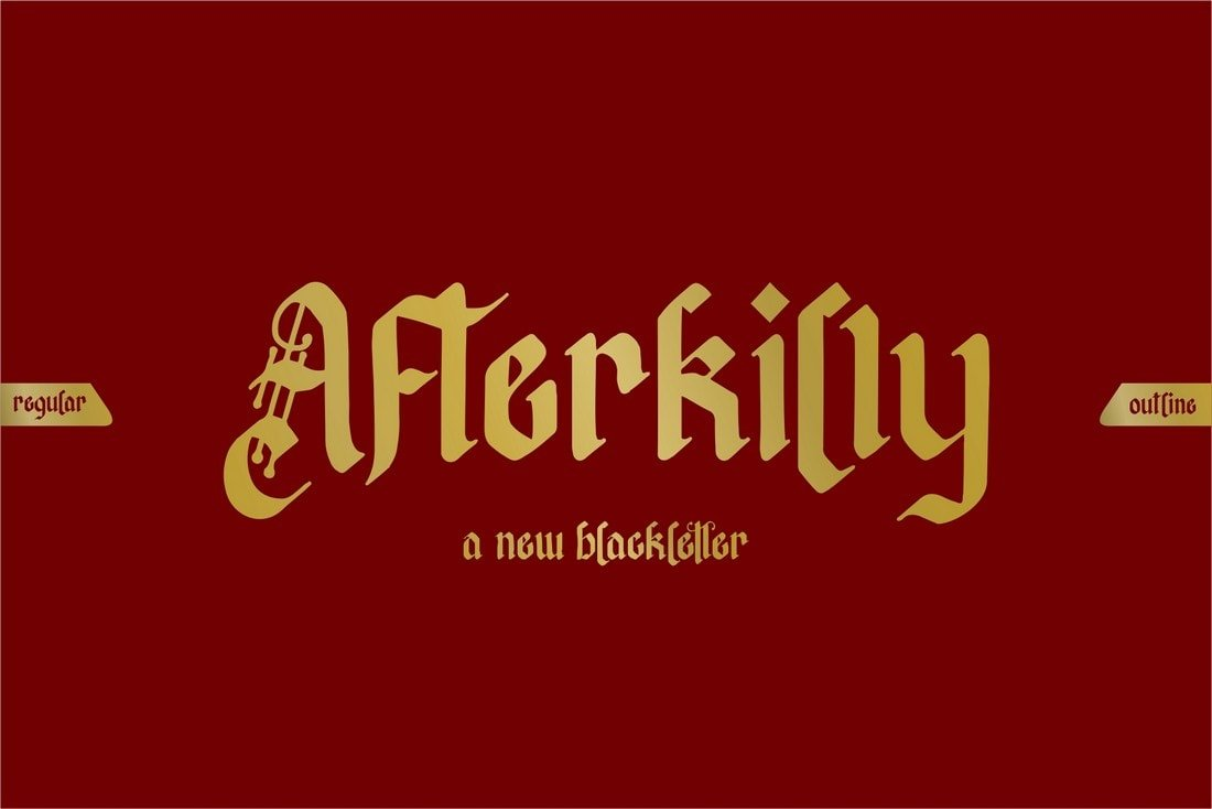 Afterkilly - Fuente Blackletter Tattoo gratis