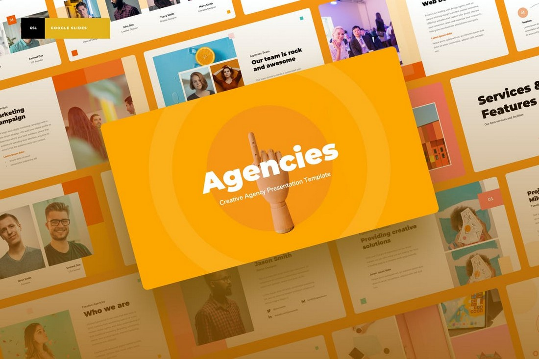 Agencies - Creative Agency Google Slides Template