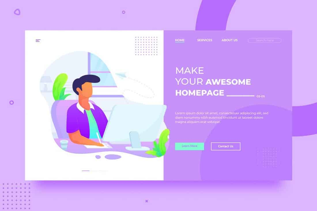 Agency & Freelancer Background Template