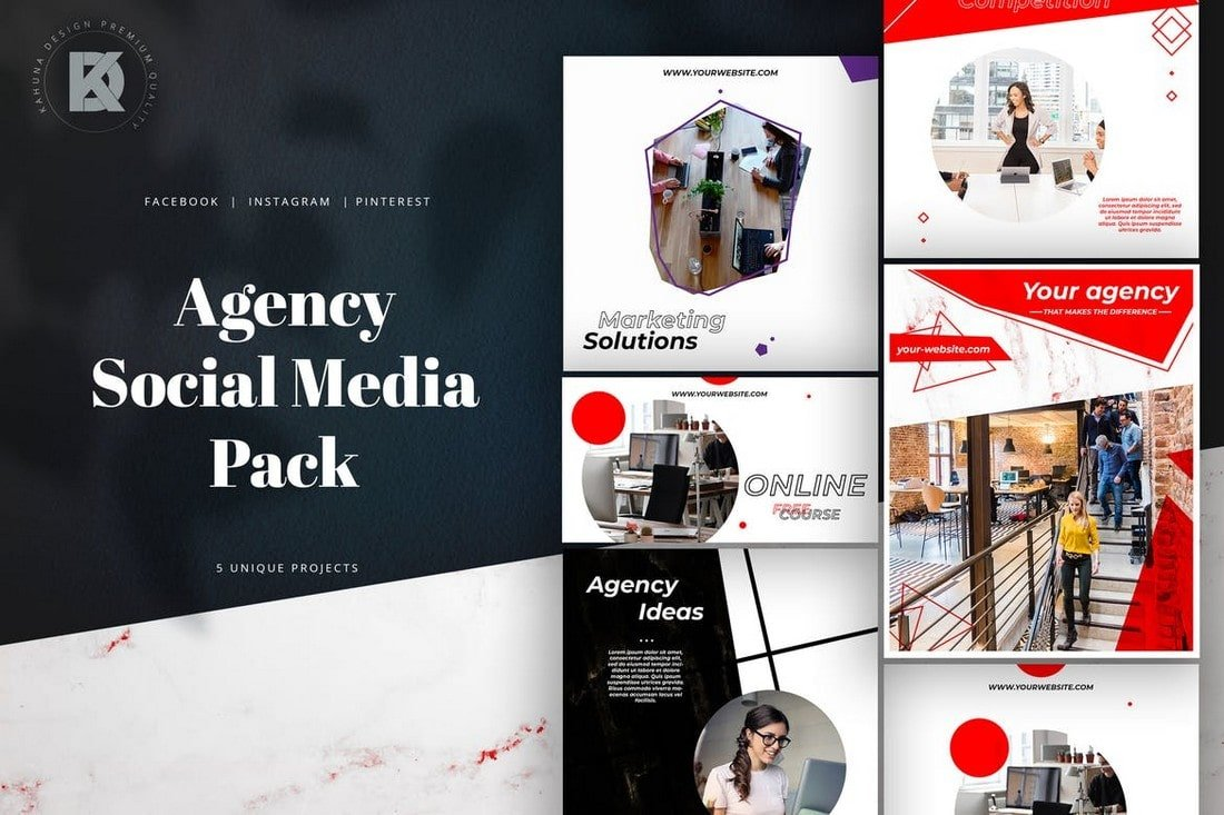 Agency-Marketing-Social-Media-Pack 40+ Best Social Media Kit Templates & Graphics design tips  Inspiration|facebook|social media|twitter