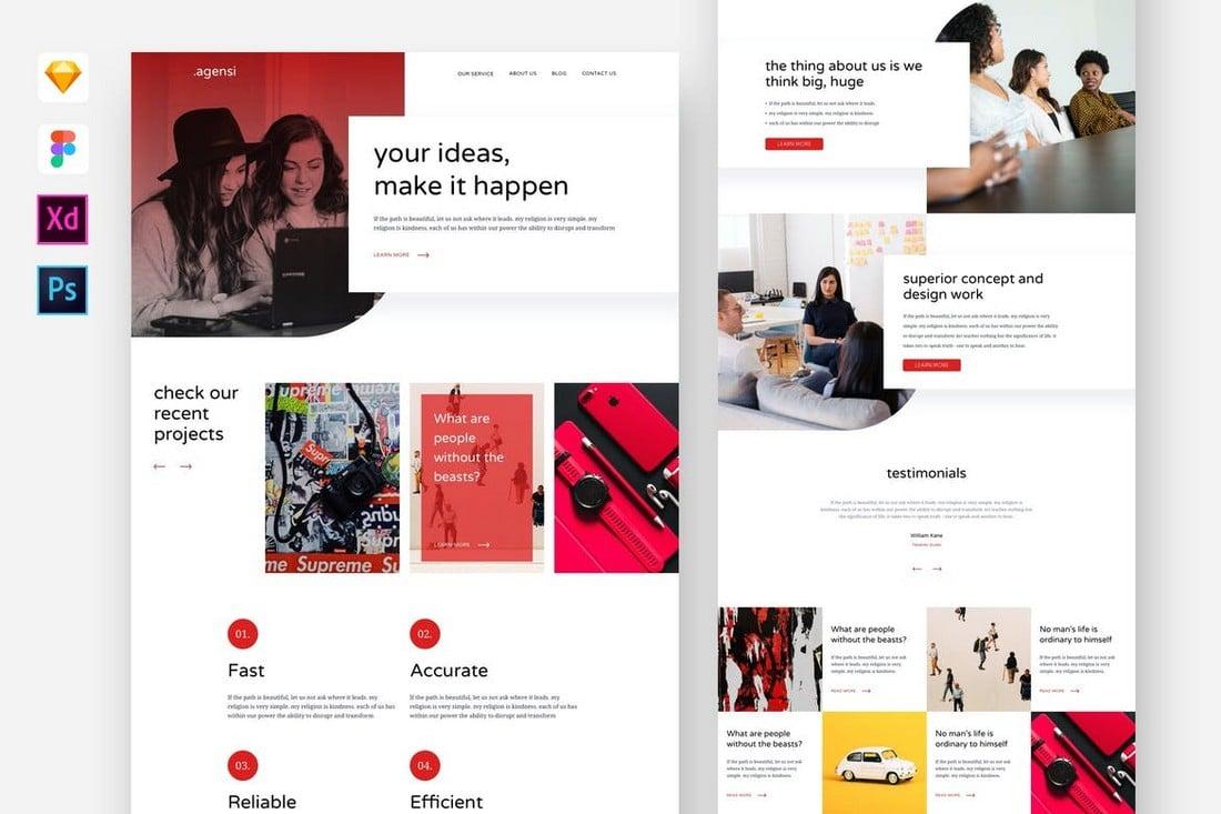 Agensi - Digital Agency Adobe XD Website Template