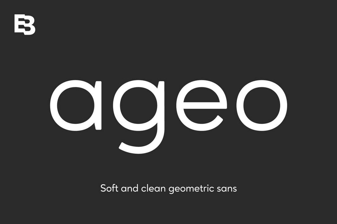 Ageo - Elegant Geometric Sans Font