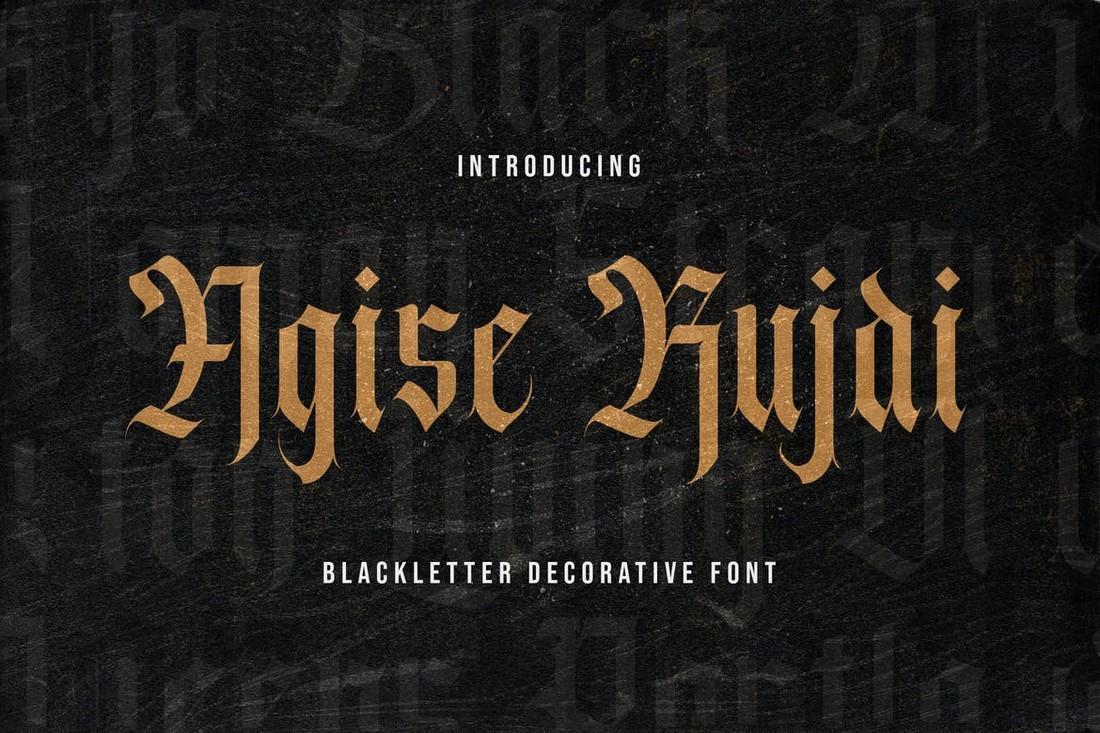 Agise-Rujdi-Blackletter-Gothic-Font 40+ Best Gothic Fonts design tips