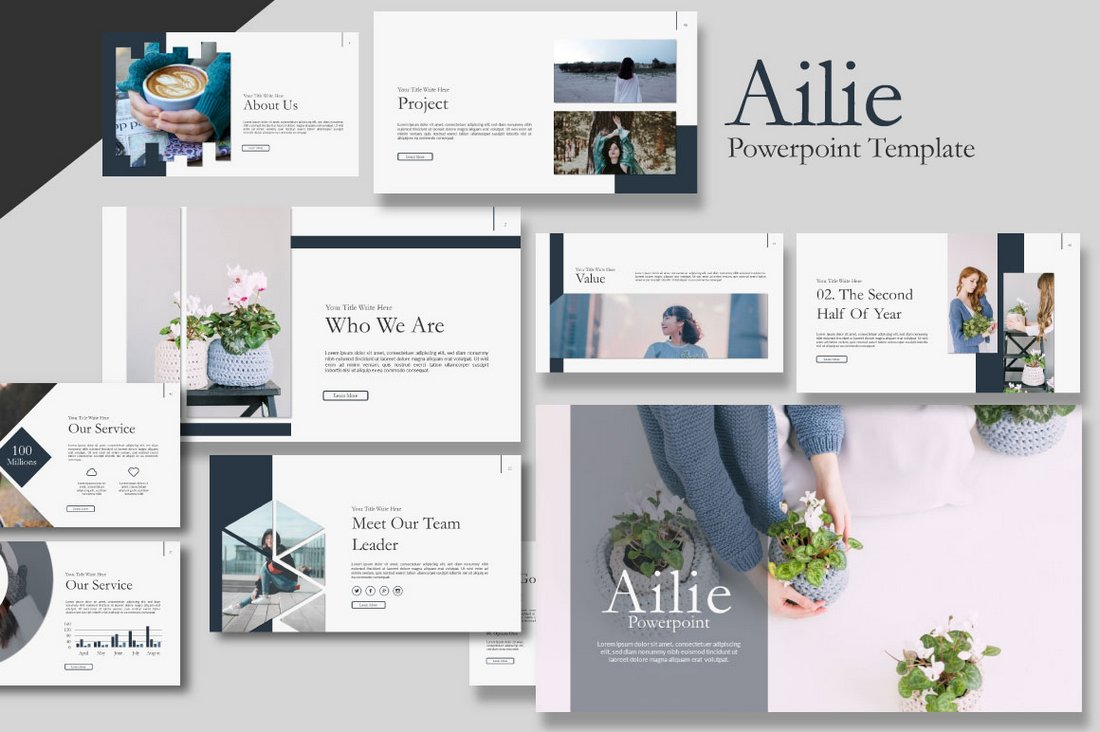 Ailie-Creative-Free-Presentation-Template 60+ Beautiful, Premium PowerPoint Presentation Templates design tips  Inspiration|microsoft|powerpoint|presentation|template