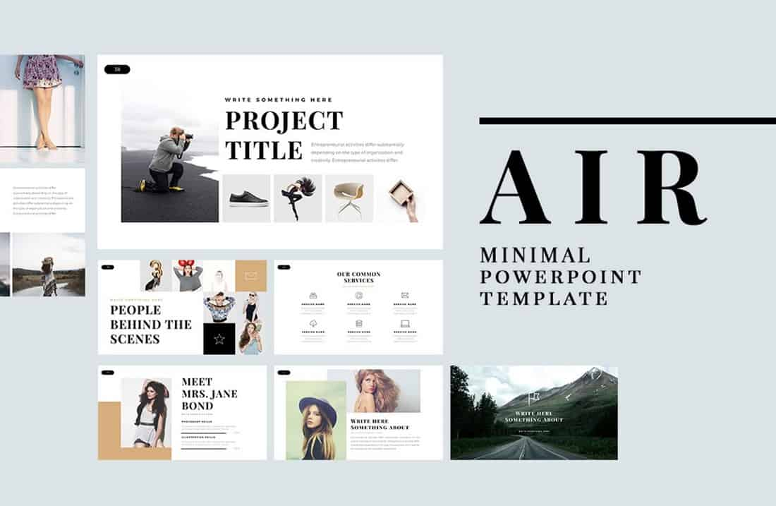 Air - Clean Free PowerPoint Template