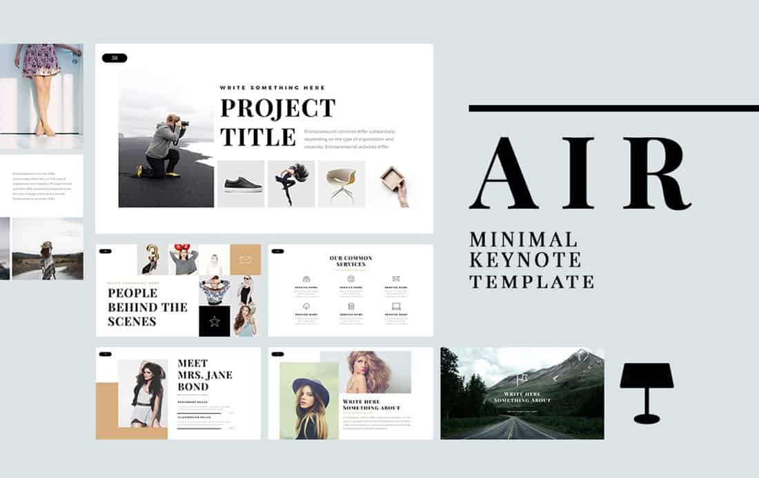 Air - Free Minimal Keynote Template