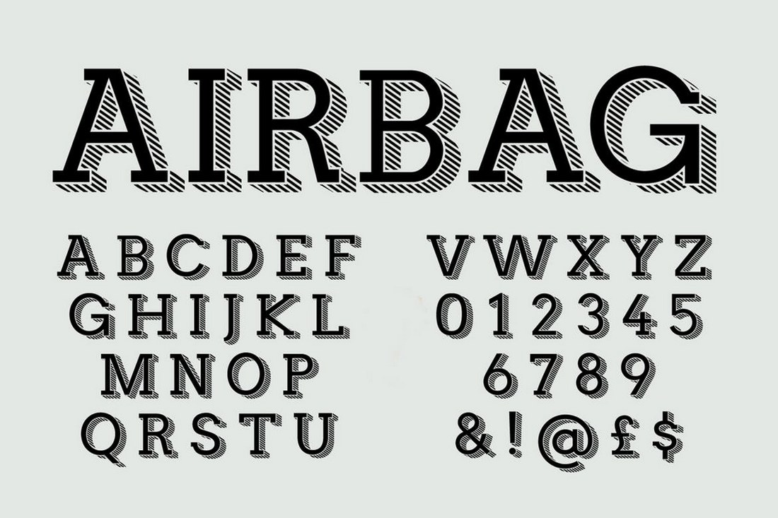 Airbag-Trendy-Display-Font 40+ Best Number Fonts for Displaying Numbers design tips