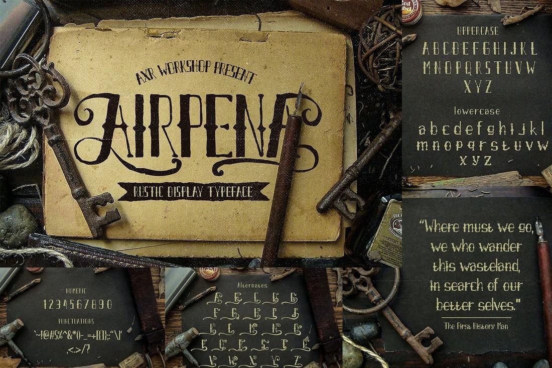 Airpena - Rustic Display Font