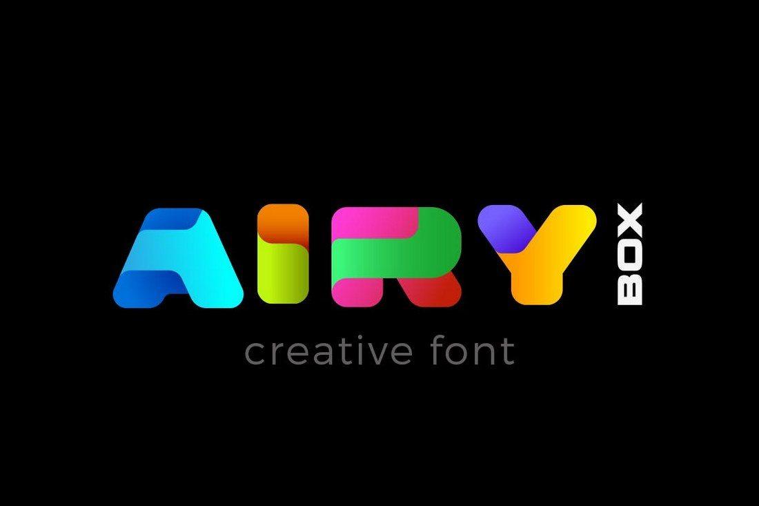 Airy-BOX 30+ Best Modern & Futuristic Fonts 2021 design tips