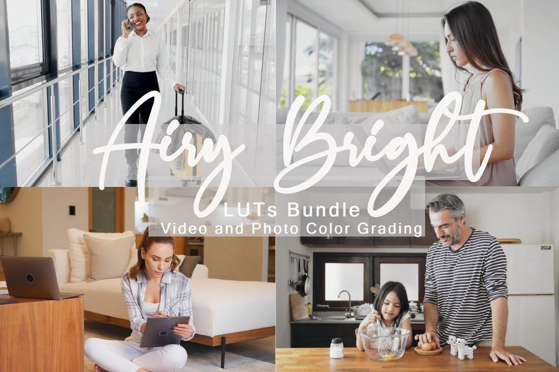 Airy Bright LUTs Bundle for Premiere Pro