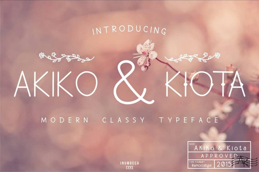 Akiko & Kiota - Creative Wedding Font