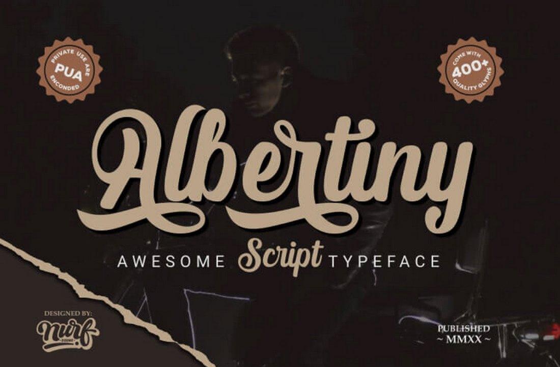Albertiny - Free Vintage Script Font
