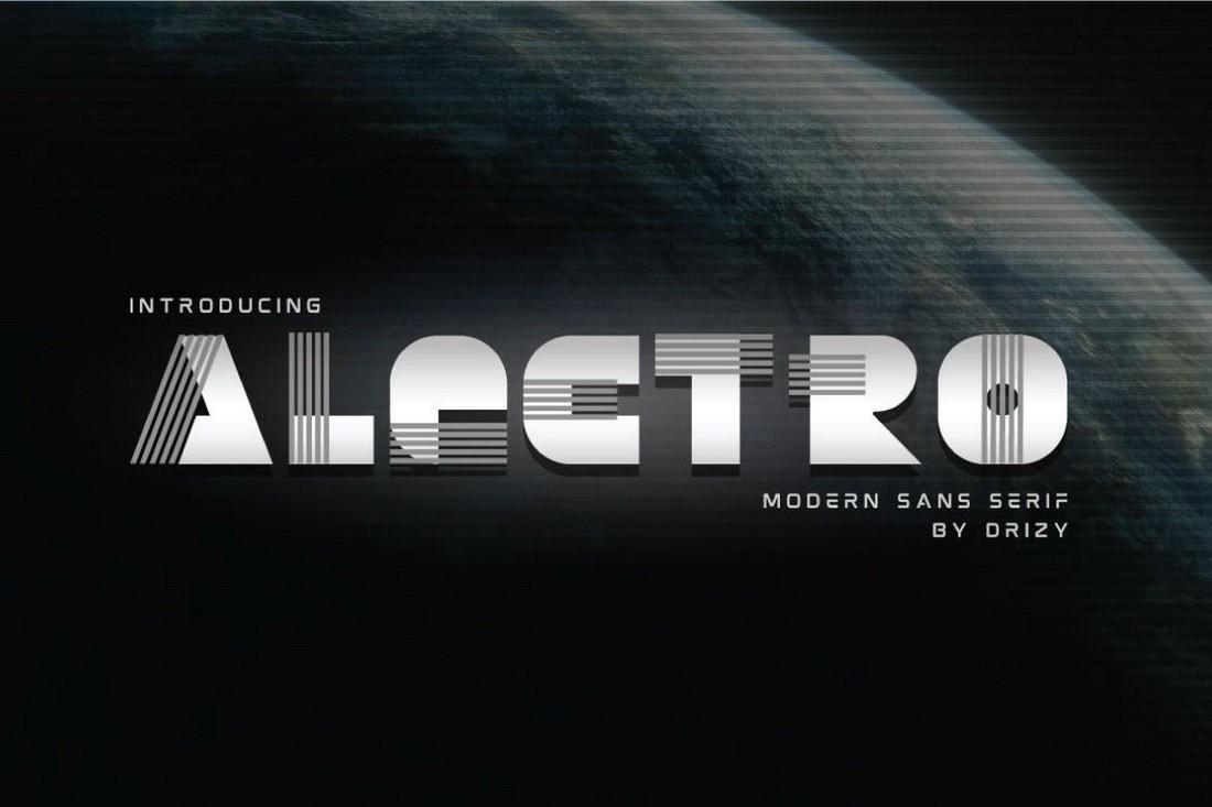 Alectro - Futuristic Thick Font