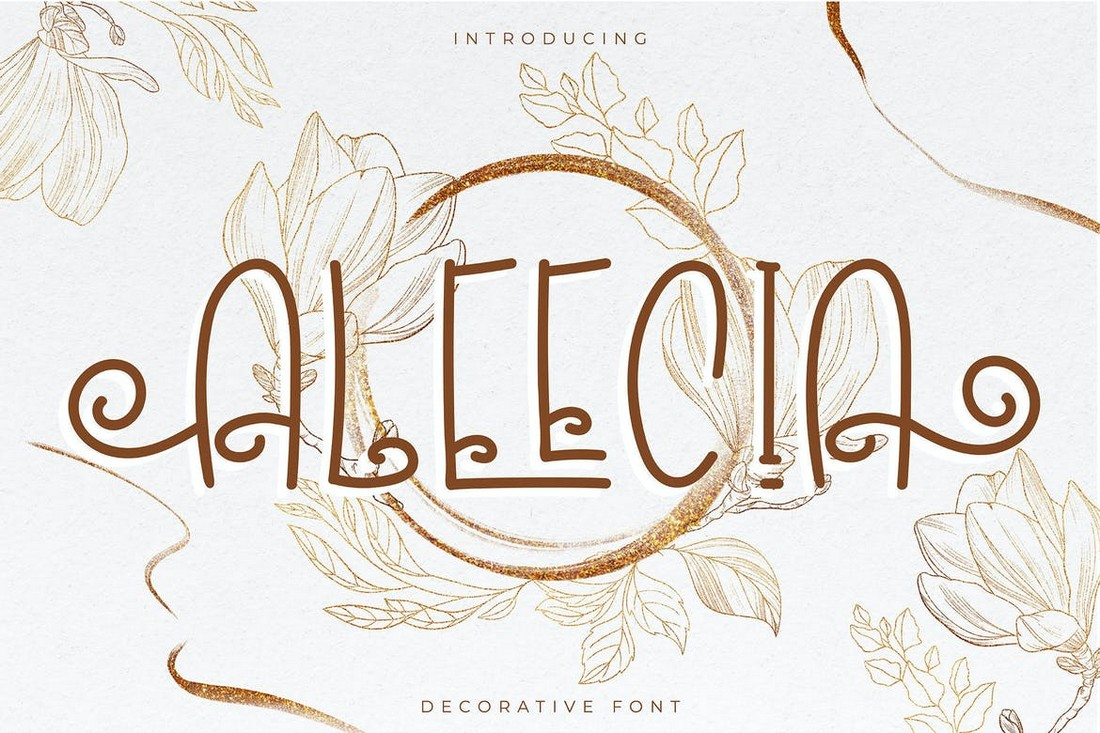 Aleecia-Stylish-Decorative-Font 25+ Best Decorative Fonts in 2021 (Free & Premium) design tips
