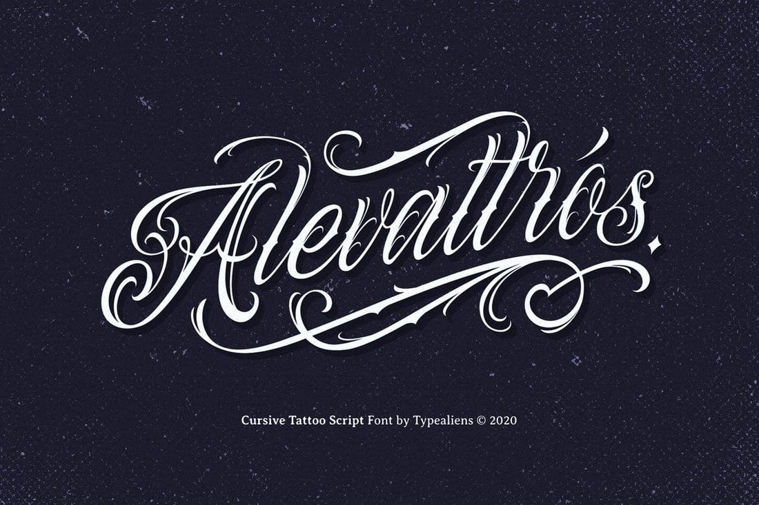 Alevattros-Cursive-Tattoo-Font 30+ Best Tattoo Fonts & Lettering design tips  Inspiration|tattoo