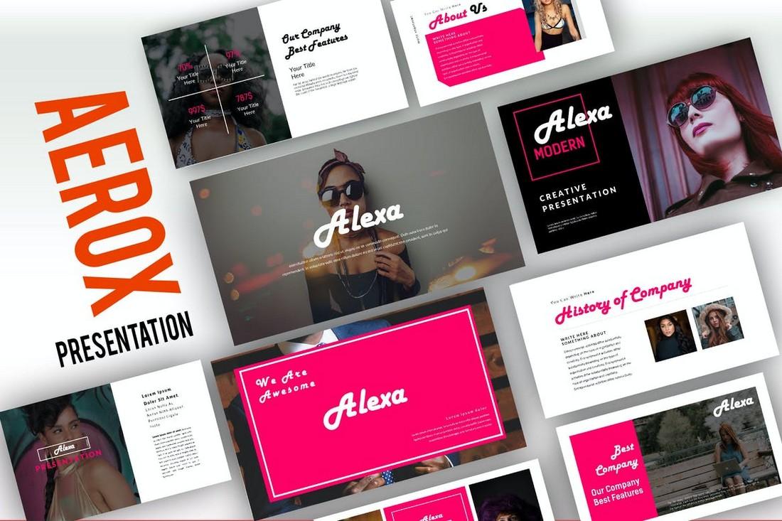 Alexa - Clean & Creative Powerpoint Template