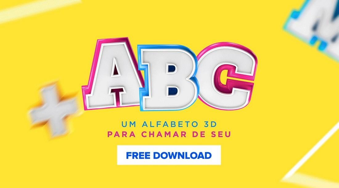 Alfabeto - Free 3D Lettering Font