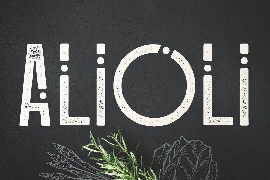 Alioli-Texture-Font 30+ Best Modern & Futuristic Fonts 2021 design tips