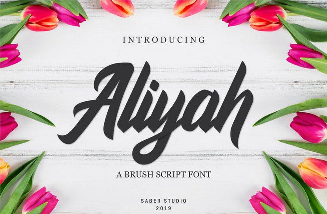 Aliyah - Tipografía elegante de la escritura
