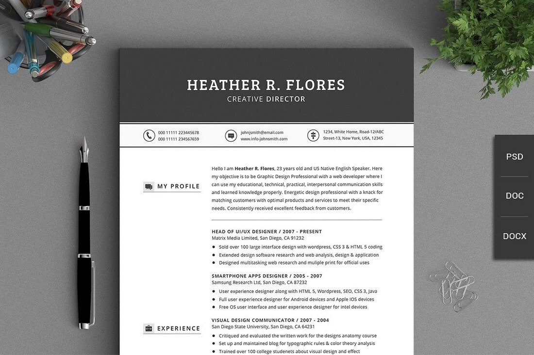 the best cv resume templates 50 examples design shack all in one timeless resume cv pack