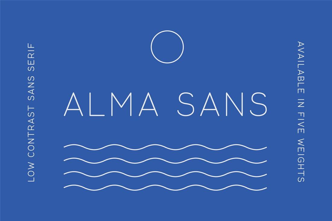 Alma Sans - Professional Minimal Font