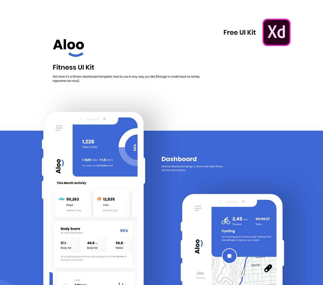 Aloo - Free Mobile App UI Kit