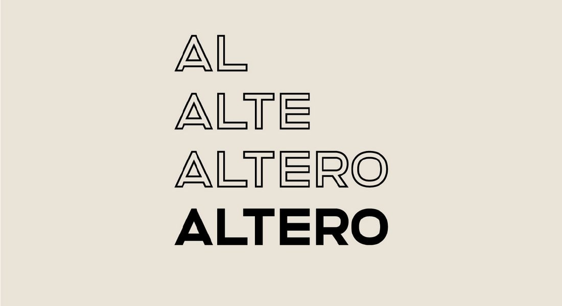 Altero - Free Clean Outline Font