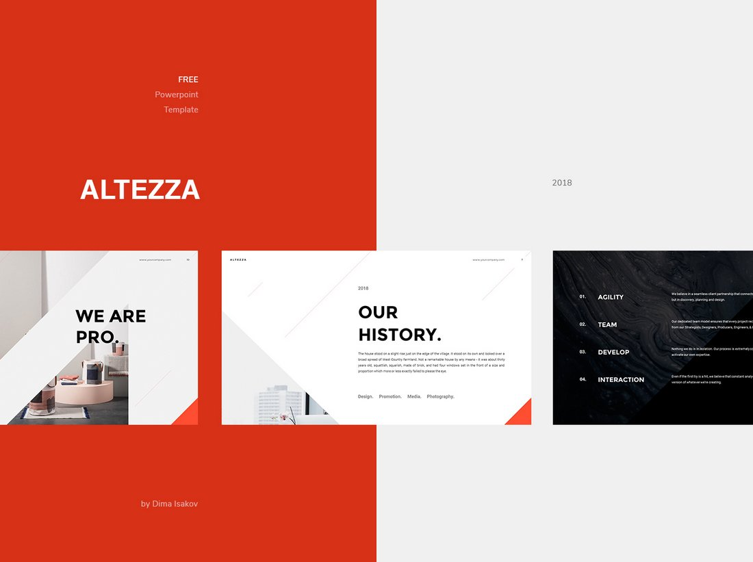 Altezza-Free-Business-PowerPoint-Template 30+ Best Business & Corporate PowerPoint Templates 2021 design tips