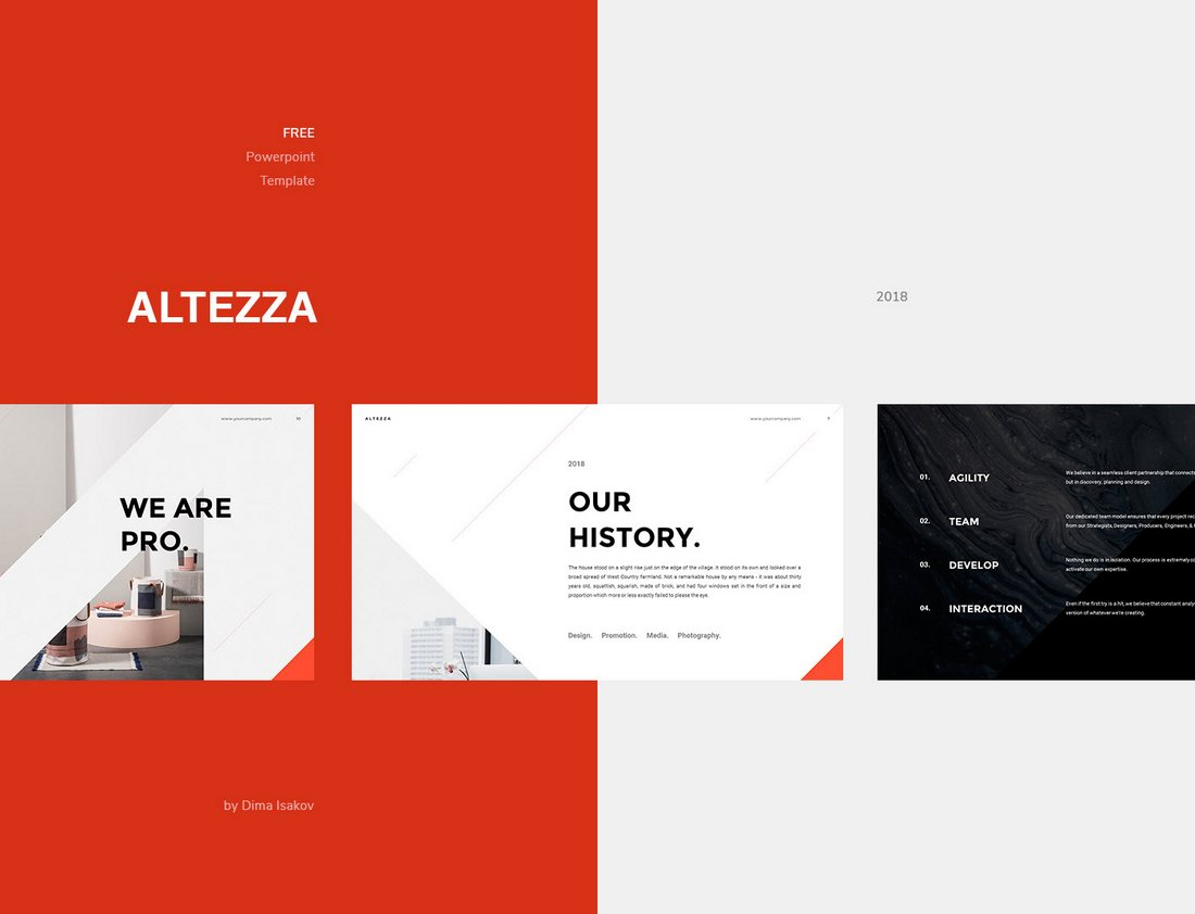 Altezza - Free Minimal PowerPoint Template