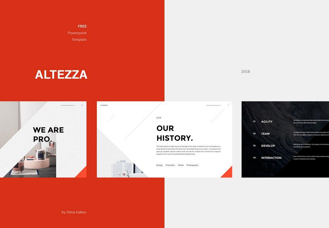 Altezza - Free Modern PowerPoint Template