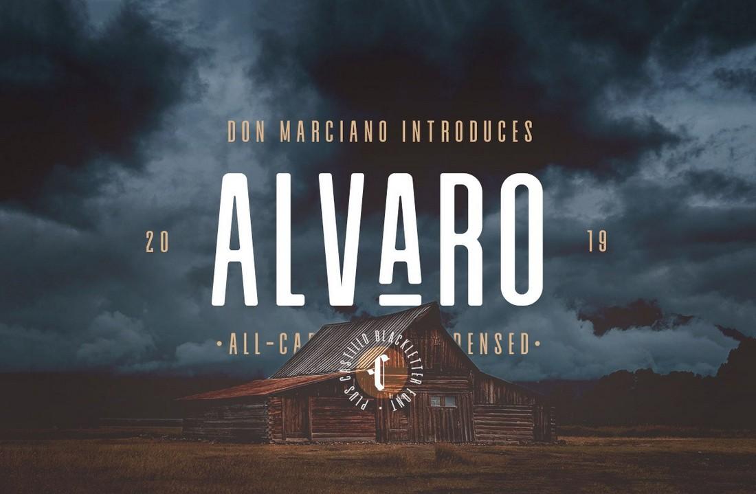 Alvaro-Free-Condensed-Sans-Serif-Font 50+ Best Condensed & Narrow Fonts of 2020 design tips