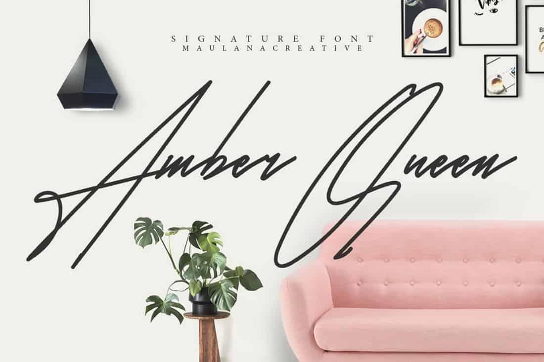 Amber Queen Signature Font