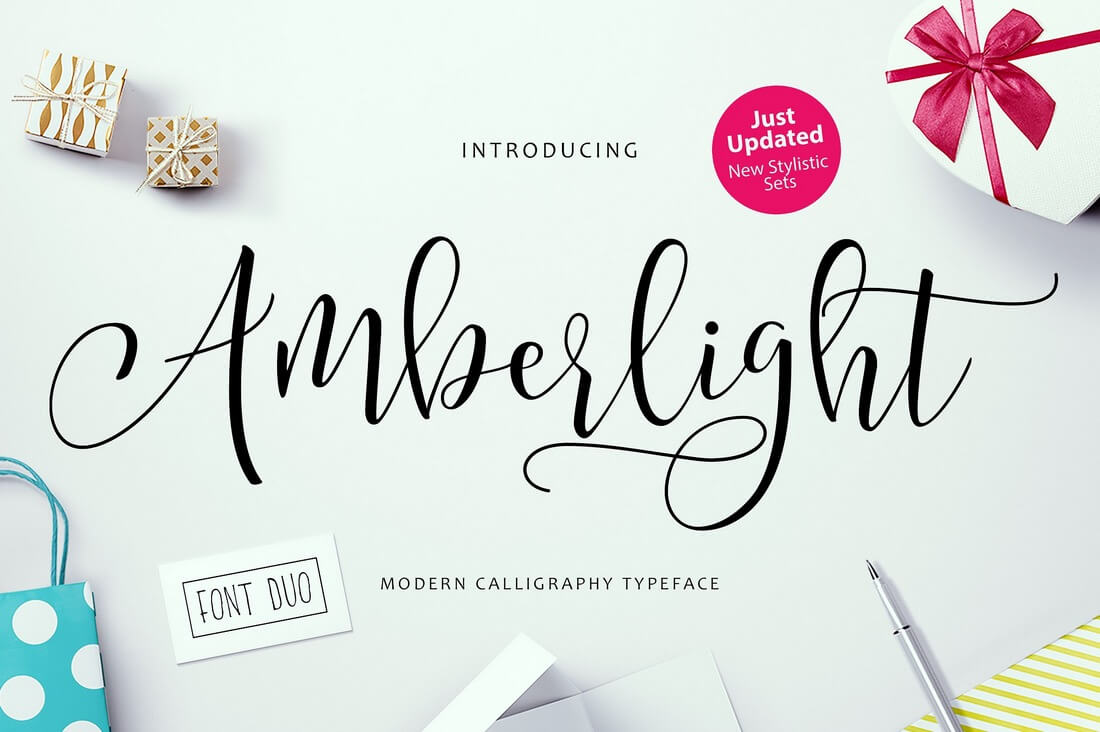 Amberlight 100+ Beautiful Script, Brush & Calligraphy Fonts design tips