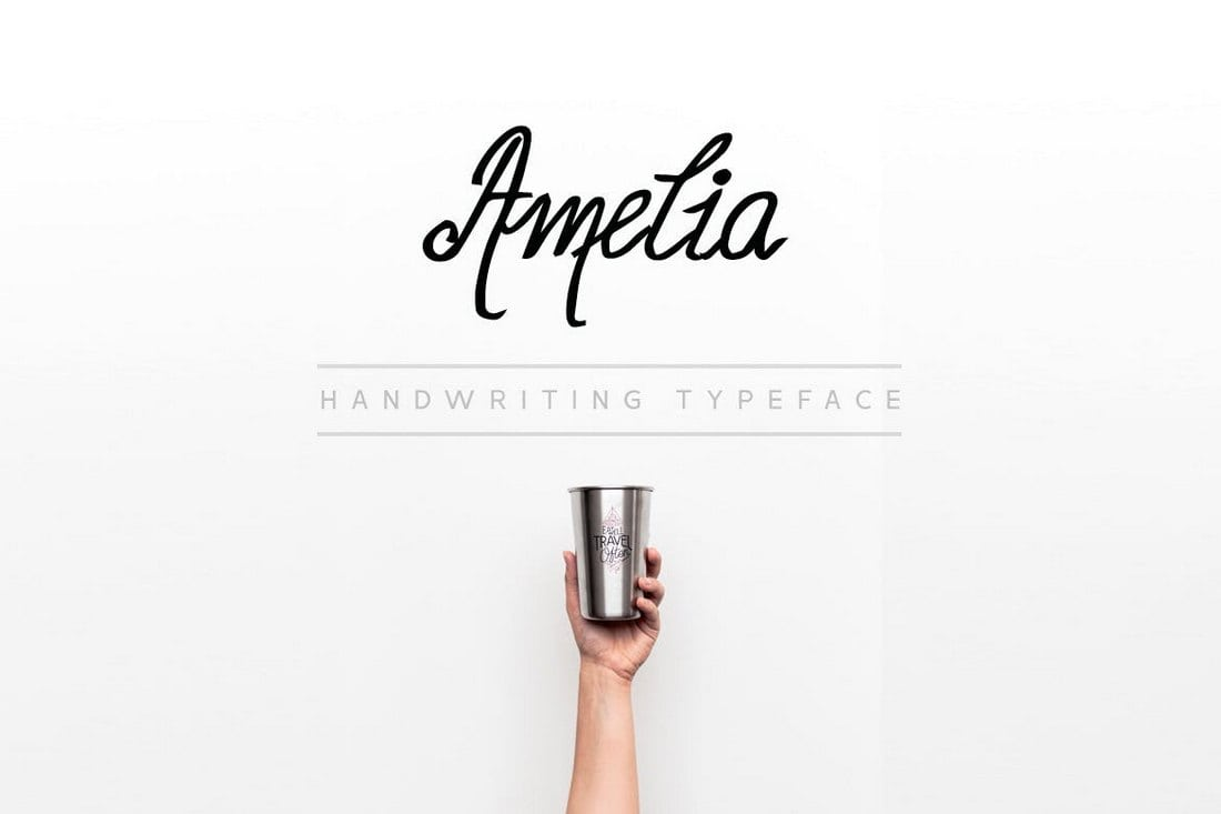 Amelia-Handwriting-Calligraphy-Font 30+ Best Fonts for Business Cards design tips