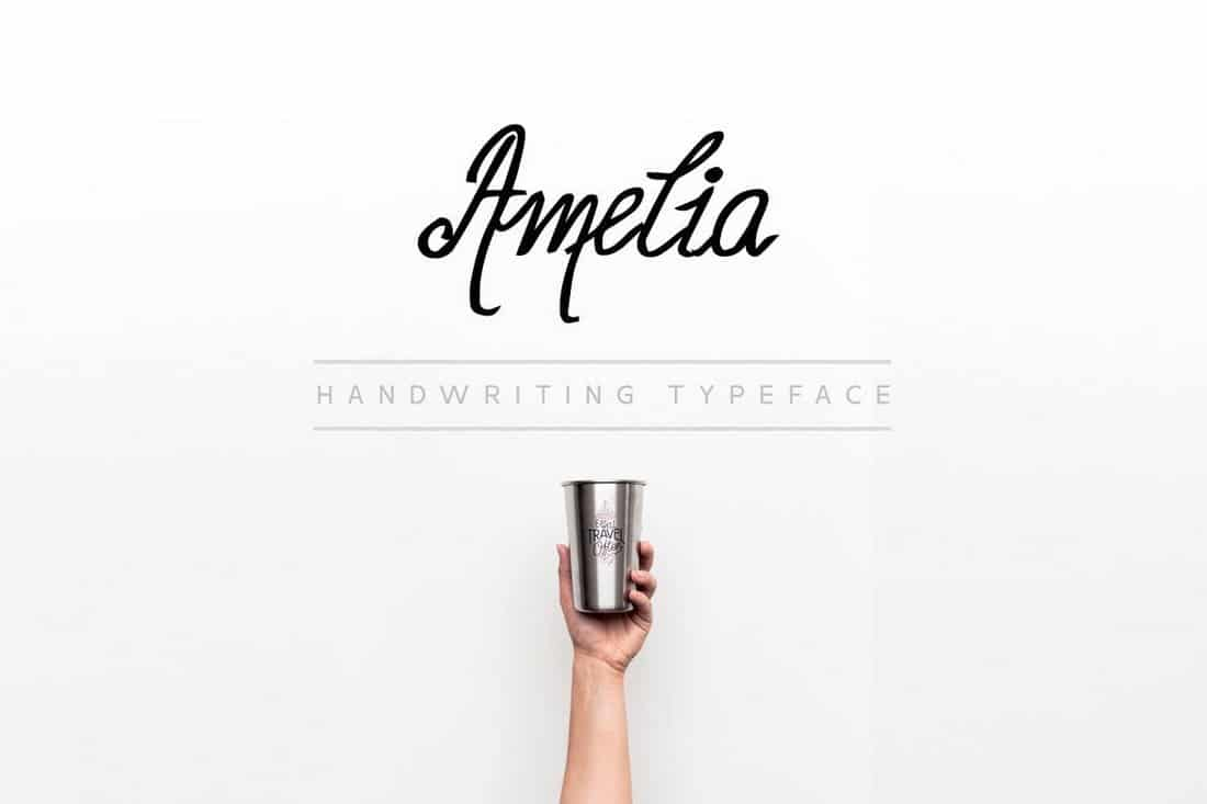 Amelia - Minimal Handwriting Font