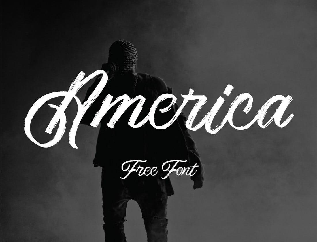 America - Fuente Textured Script Gratis